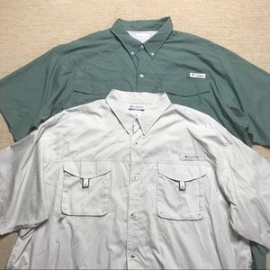 Lot Of 2 COLUMBIA PFG Vented Fishing Shirt 2XL